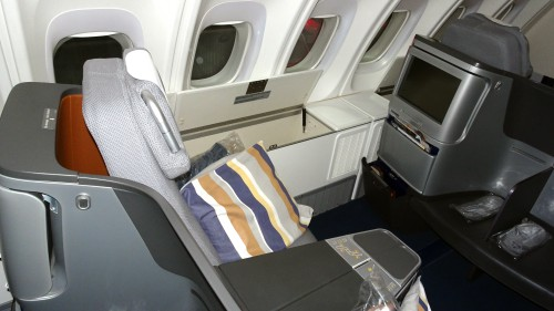 Lufthansa 747-8 Business Seat flat bed