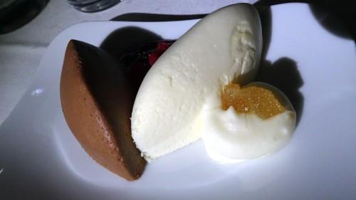 Lufthansa business class dessert