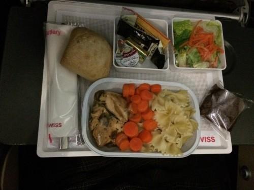 SWISS economy meal