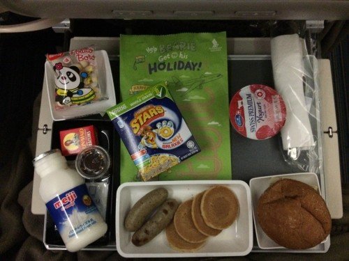 Singapore Airlines child meal breakfast