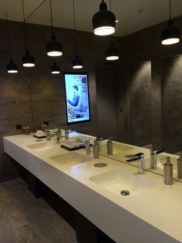 Swiss business lounge bathrooms