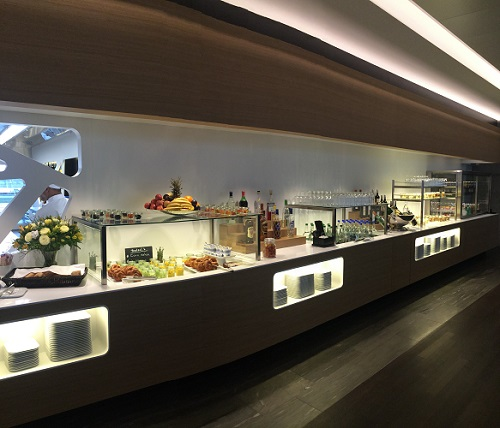 Swiss business lounge buffet