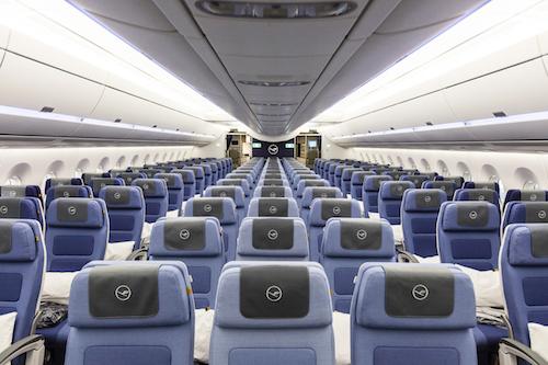 Lufthansa A350 Economy seats.