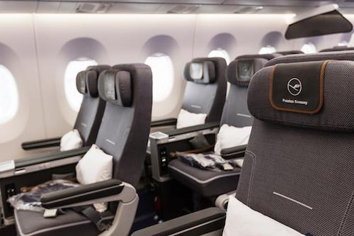 Lufthansa A350 Premium Economy seats.