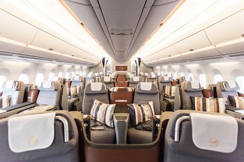 Lufthansa A350 Business Class Cabin.