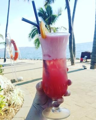 Cocktails at DoubleTree Sonaisali Island Fiji