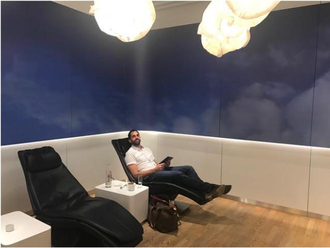 Lufthansa Senator's Lounge in Frankfurt.