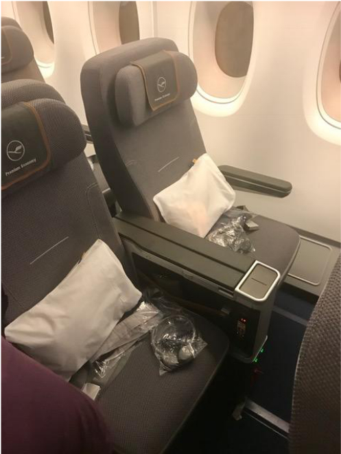 Lufthansa Premium Economy Seat.