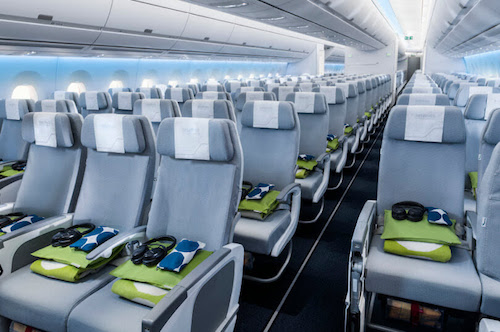 Finnair Economy Comfort is located int he first 4-5 rows of the Economy Cabin.