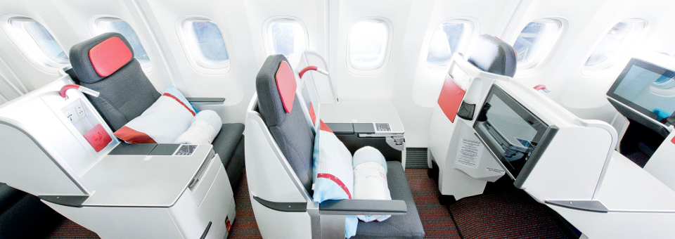 Austrian Airline business class round the world airfares