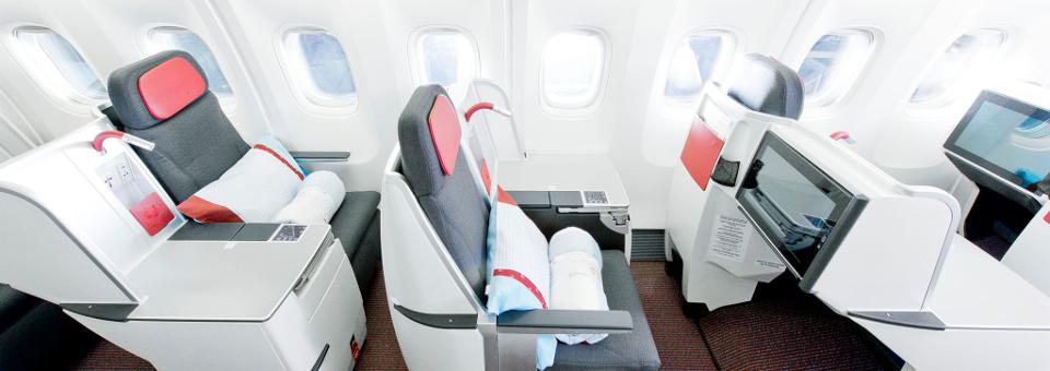 Austrian Airline business class round the world airfares