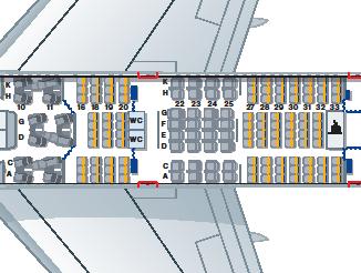 Lufthansa 747-800 Seat map