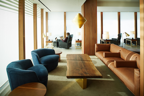 Calm environment in the Cathay Pacific London Lounge