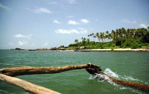 Beaches of Goa, India.