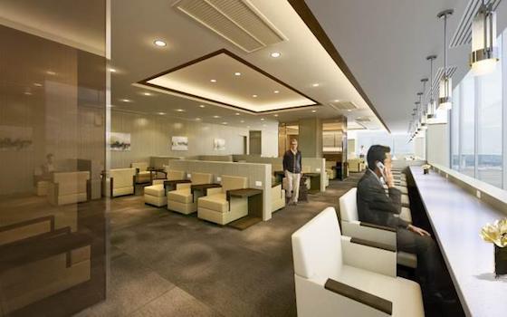 JAL Sakura Lounge at Bangkok International Airport.