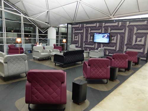 Some lounge areas included TVs featuring current sporting events