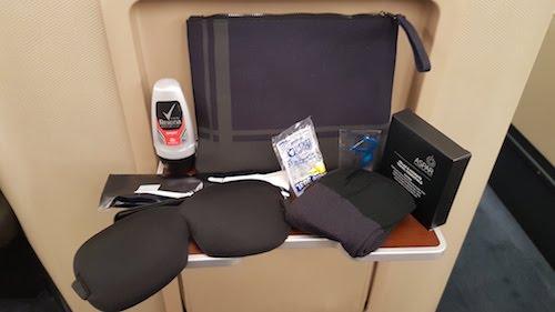 Amenity kit including ASPAR products