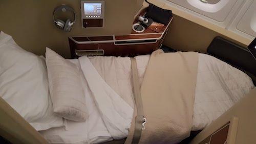 Qantas first class bed.