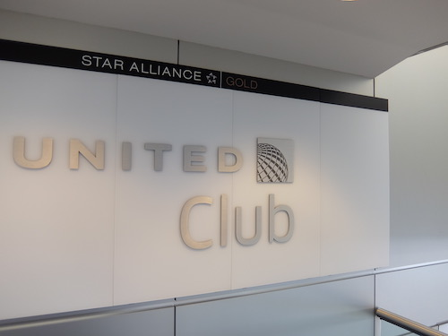 Entrance to the United Club at Newark Airport.