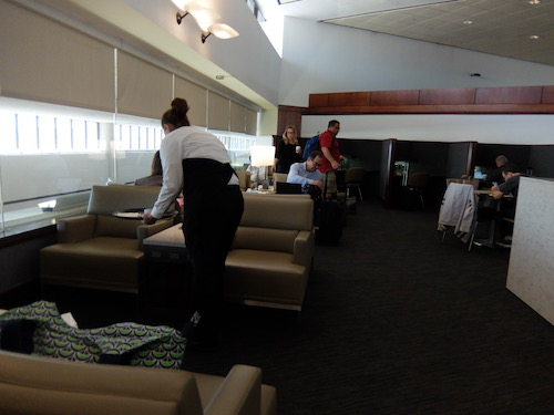 Seating in the United Club at Newark Airport
