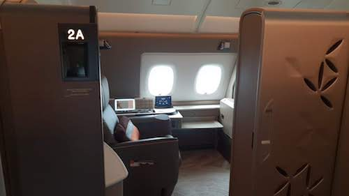Suite 2A in the Singapore Suites A380 Cabin.