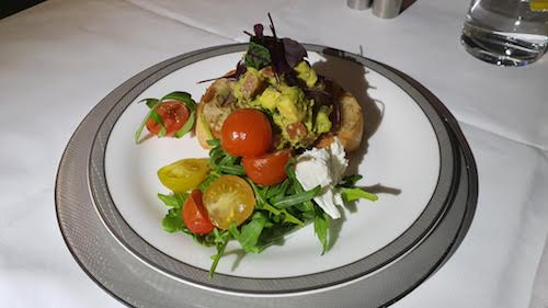 SQ Suites - Inflight Dining: Smashed Avocado