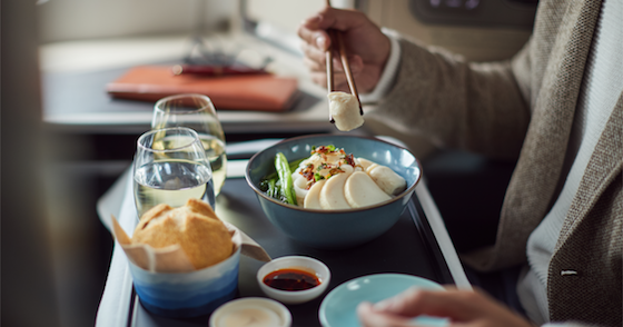 Cathay Pacific, new Flavours of Hong Kong Menu