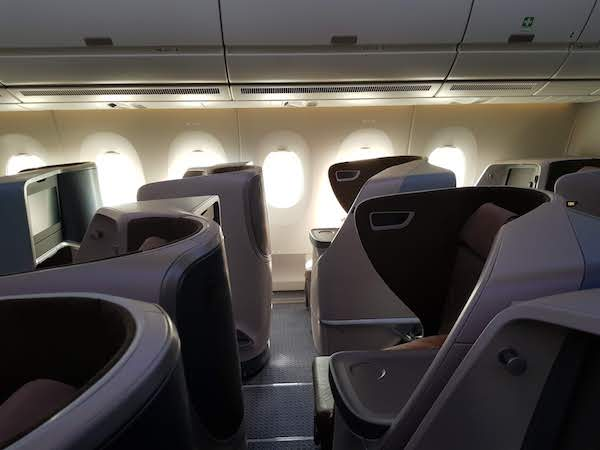Singapore Airlines A350 new Medium Haul Business Class Cabin