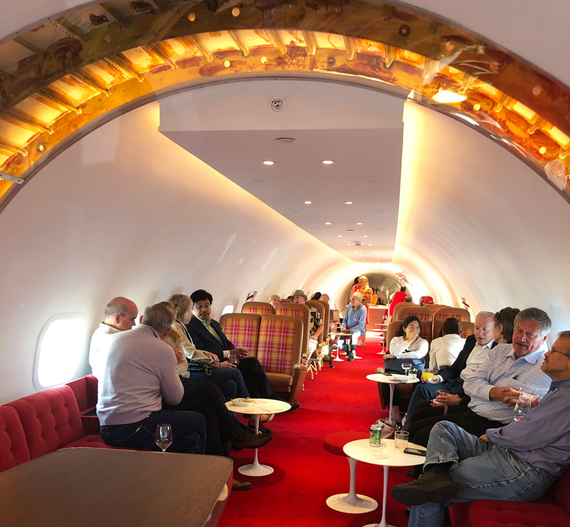 Inside the refurbished Connie Plane