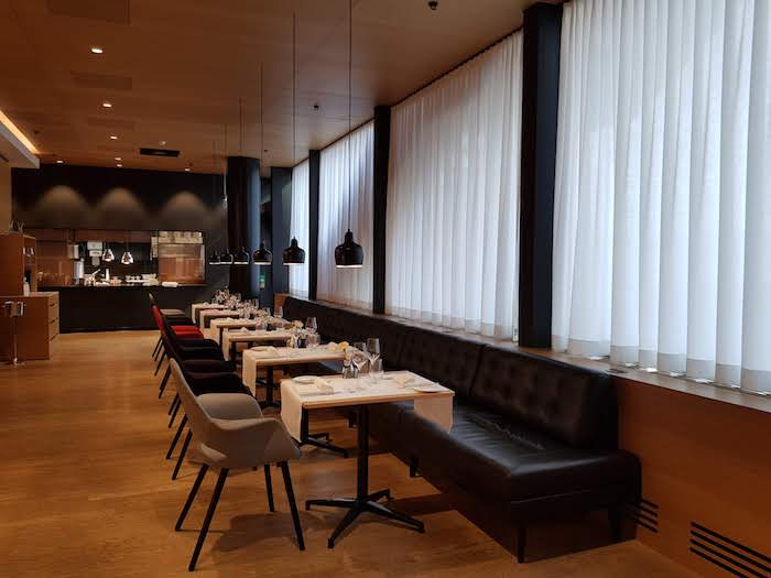 SWISS First Class Lounge Dining Tables