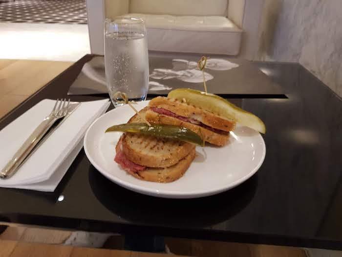 Qantas LAX First Class Lounge Rueben Sandwich